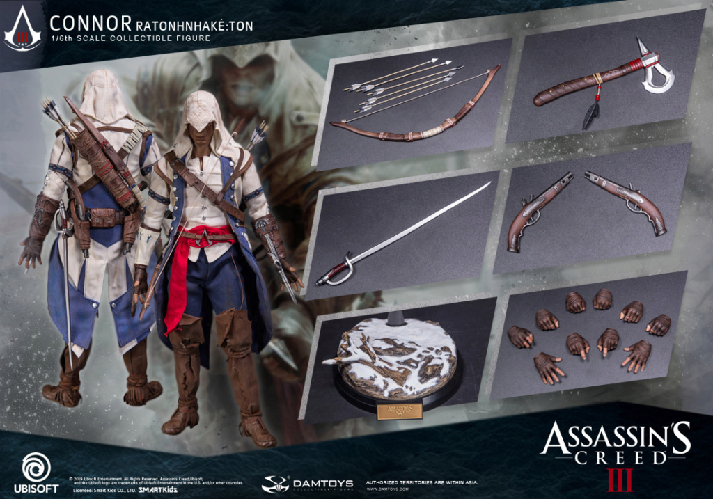 "Videogame - NEW PRODUCT: DAMTOYS: 1/6 Ubisoft classic game ""Assassin's Creed III"" - Connor movable doll DMS010 12214111"