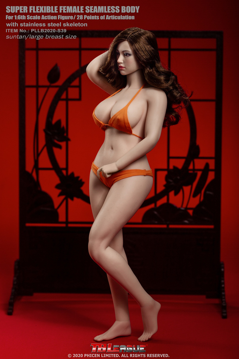 "body - NEW PRODUCT: TBLeague: 1/6 scale ""Chubby"" Female Body (2 styles, with or without a head sculpt) 12223"