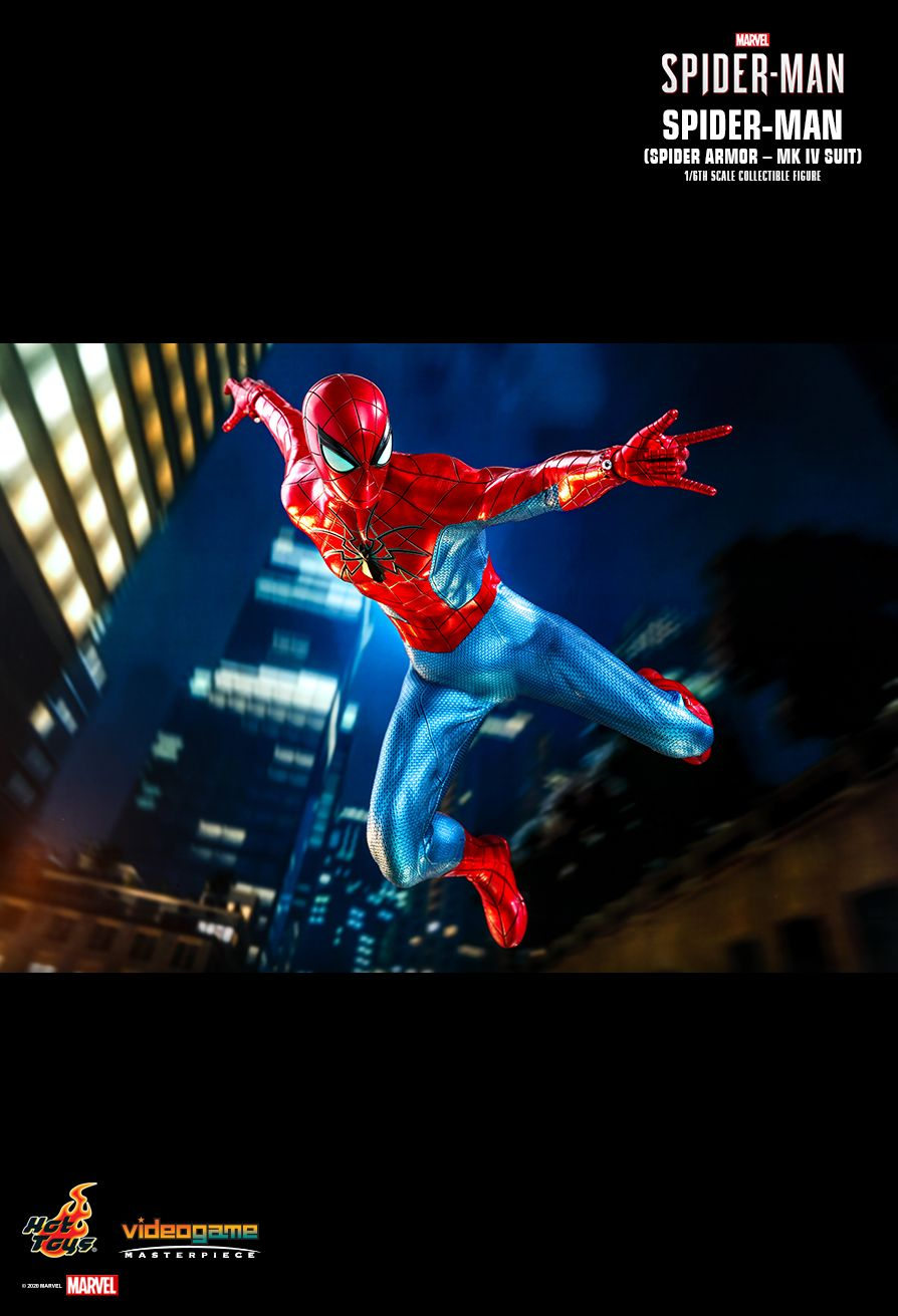 videogame - NEW PRODUCT: HOT TOYS: SPIDER-MAN (SPIDER ARMOR - MK IV SUIT) MARVEL'S SPIDER-MAN 1/6TH SCALE COLLECTIBLE FIGURE 12242
