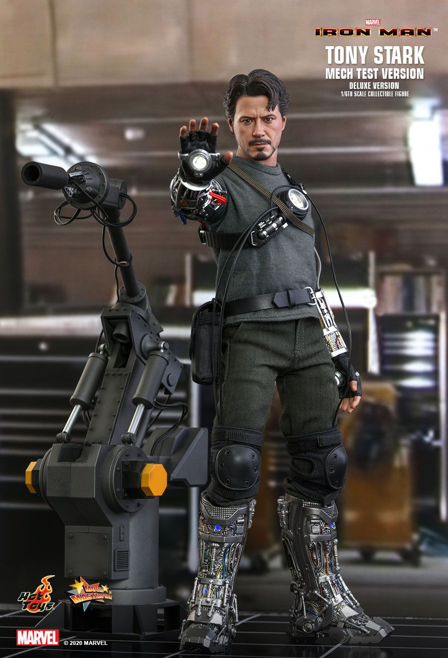 movie - NEW PRODUCT: HOT TOYS: IRON MAN TONY STARK (MECH TEST VERSION) (DELUXE VERSION) 1/6TH SCALE COLLECTIBLE FIGURE 12253