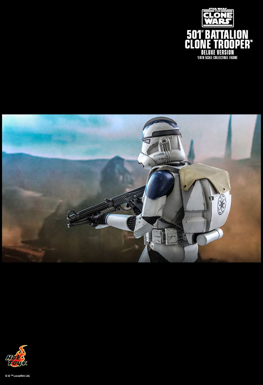 hottoys - NEW PRODUCT: HOT TOYS: STAR WARS: THE CLONE WARS™ 501ST BATTALION CLONE TROOPER™ (DELUXE VERSION) 1/6TH SCALE COLLECTIBLE FIGURE 12263