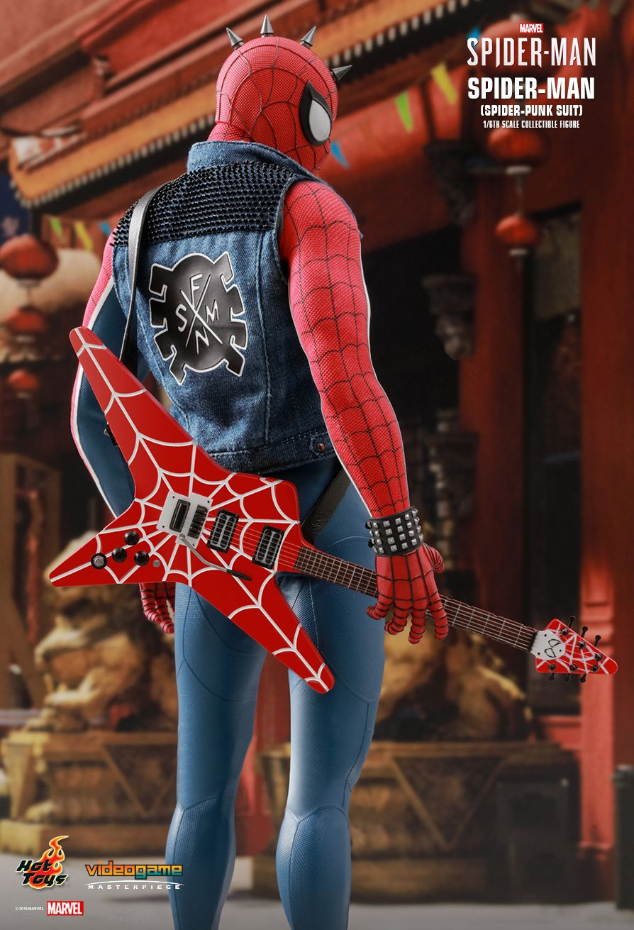 Spider-Punk - NEW PRODUCT: Hot Toys: MARVEL'S SPIDER-MAN SPIDER-MAN (SPIDER-PUNK SUIT) 1/6TH SCALE COLLECTIBLE FIGURE 1229