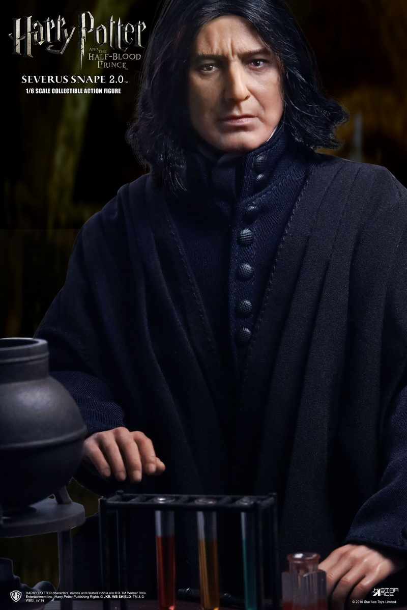 "2 - NEW PRODUCT: STAR ACE Toys: 1/6 ""Harry Potter and the Half-Blood Prince"" - Snape 2.0 & Head Carved Edition 12335910"