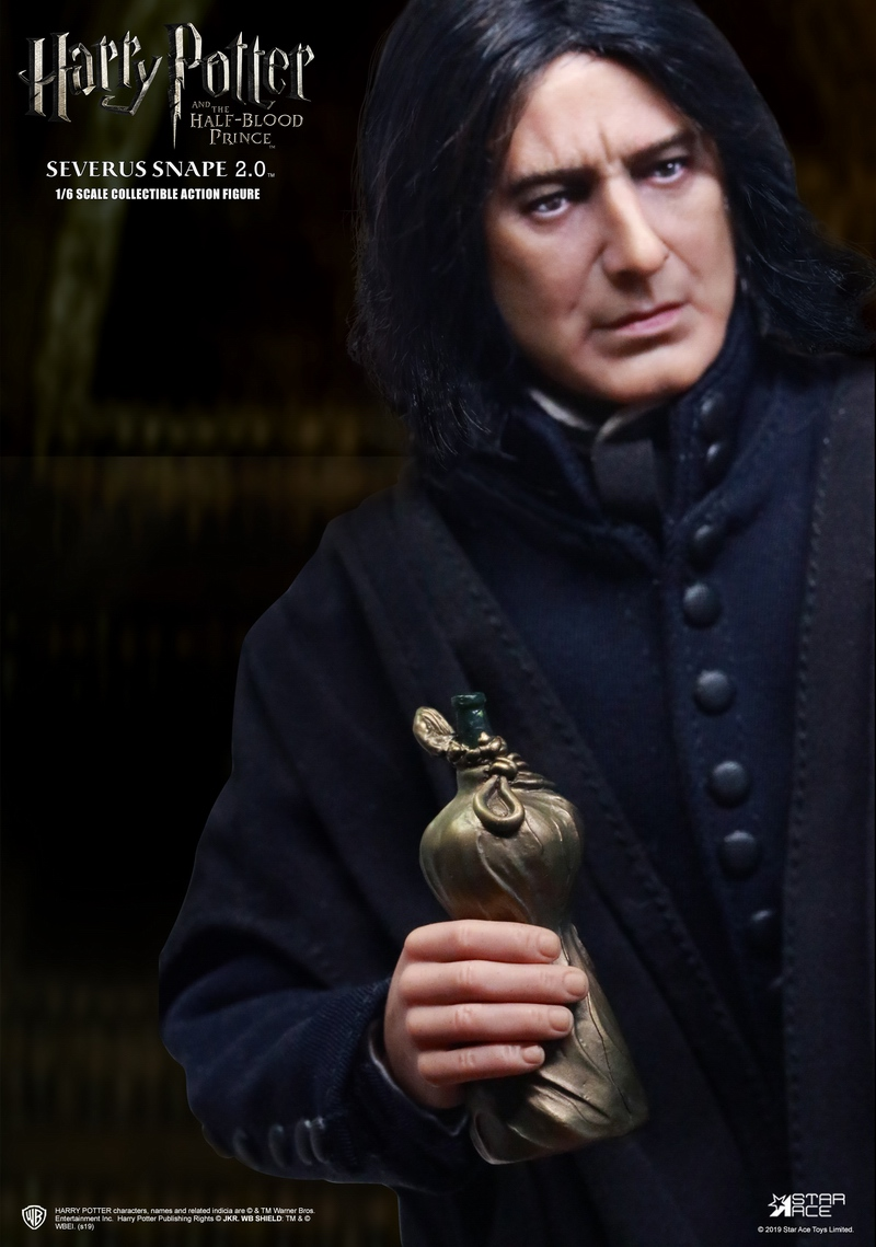 "2 - NEW PRODUCT: STAR ACE Toys: 1/6 ""Harry Potter and the Half-Blood Prince"" - Snape 2.0 & Head Carved Edition 12340010"