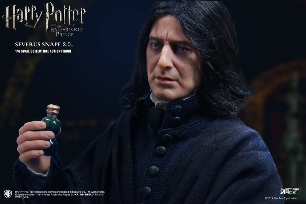 "2 - NEW PRODUCT: STAR ACE Toys: 1/6 ""Harry Potter and the Half-Blood Prince"" - Snape 2.0 & Head Carved Edition 12340110"