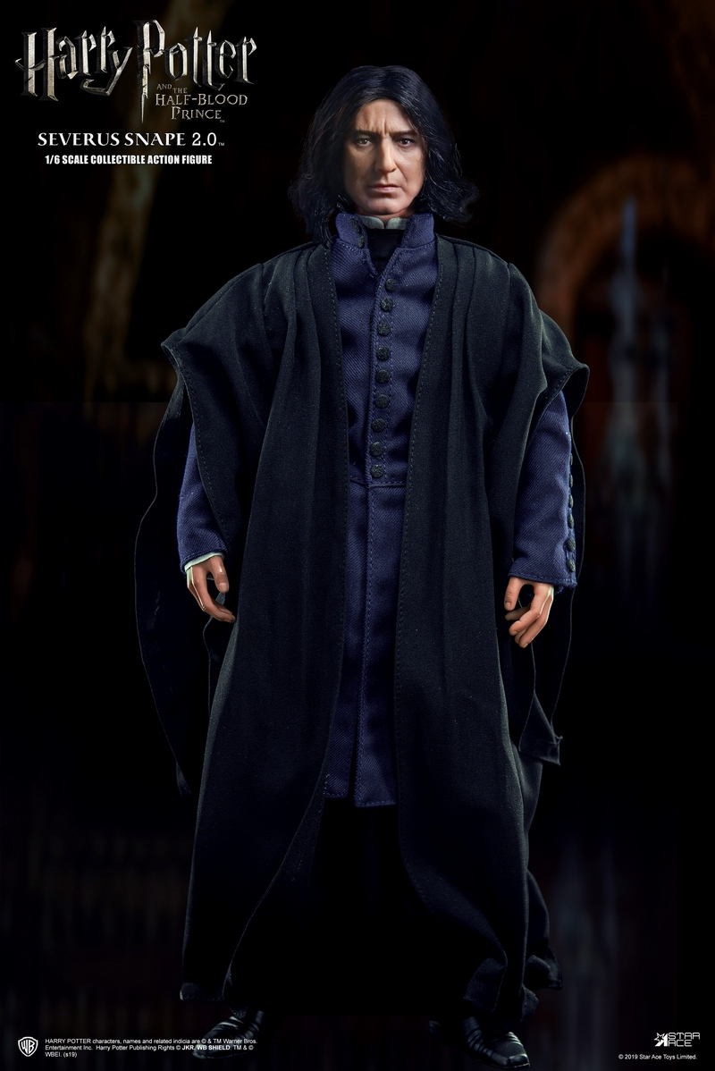 "2 - NEW PRODUCT: STAR ACE Toys: 1/6 ""Harry Potter and the Half-Blood Prince"" - Snape 2.0 & Head Carved Edition 12340211"