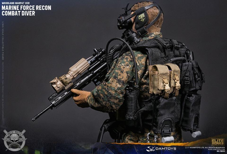 DamToys - NEW PRODUCT: DAM Toys: Marine Force Recon Combat Diver (Desert MARPAT) (GIDAM-78056) & (Woodland MARPAT) (GIDAM-78055) 1236