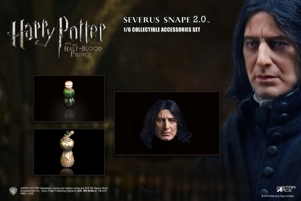 "2 - NEW PRODUCT: STAR ACE Toys: 1/6 ""Harry Potter and the Half-Blood Prince"" - Snape 2.0 & Head Carved Edition 12360810"