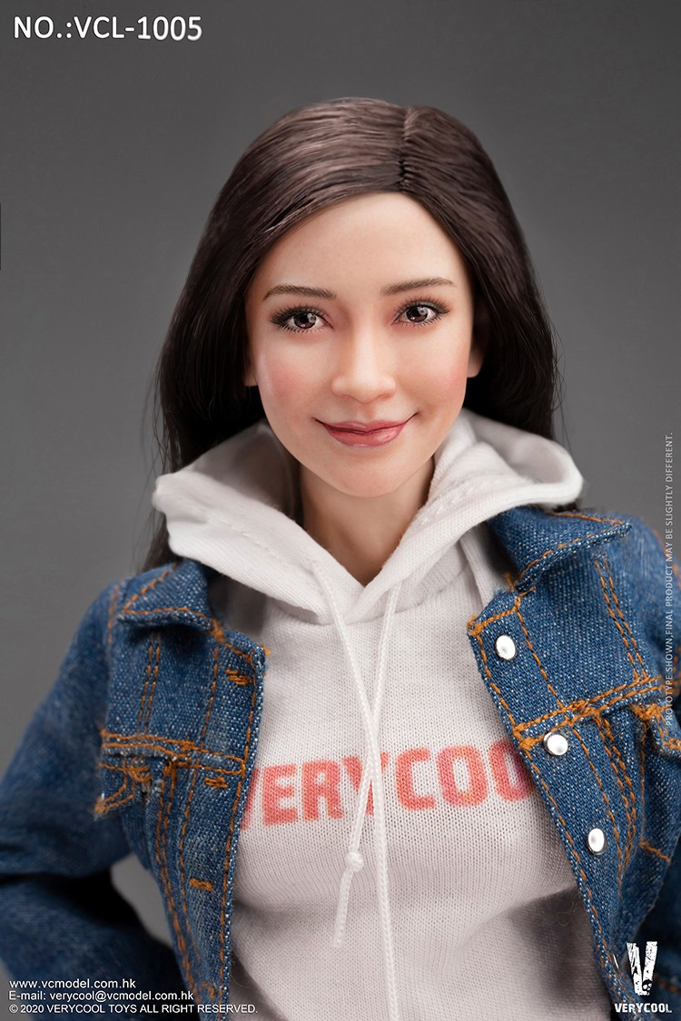 VeryCool - NEW PRODUCT: VERYCOOL: 1/6 Asian vitality beauty head carving body suit FX10 & denim casual suit VCL-1005 12530211