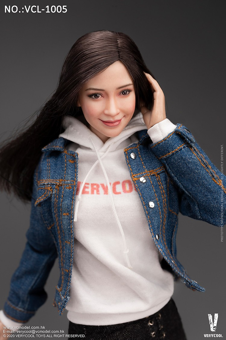 VeryCool - NEW PRODUCT: VERYCOOL: 1/6 Asian vitality beauty head carving body suit FX10 & denim casual suit VCL-1005 12530212