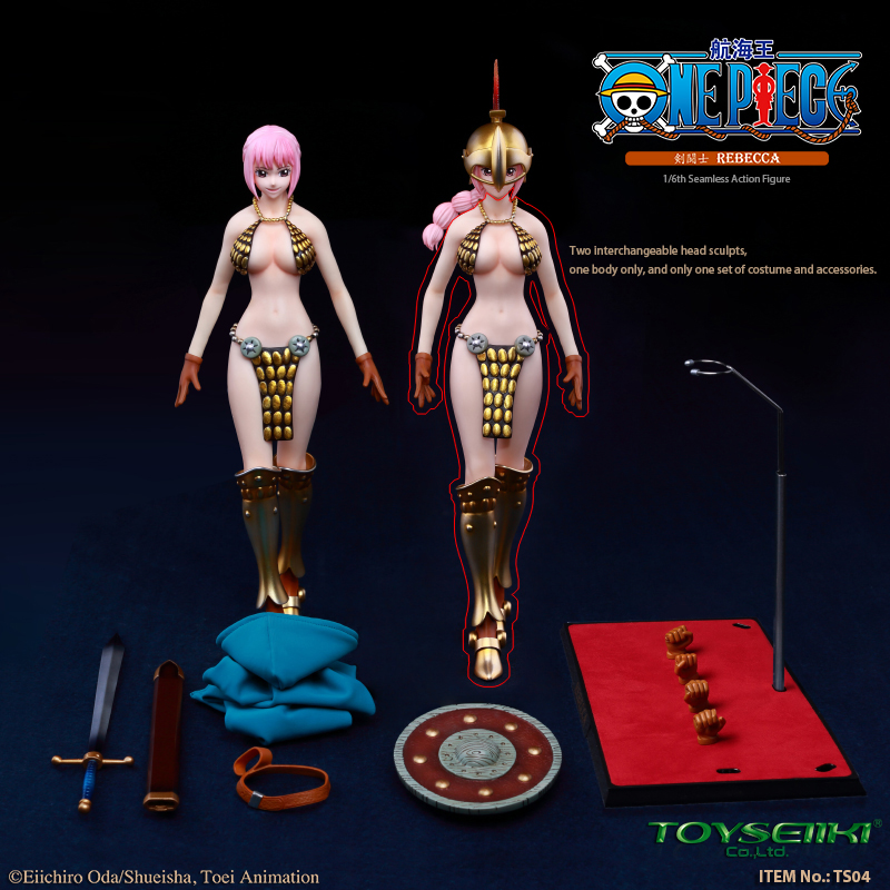"NEW PRODUCT: TOYSEIIKI New product: 1/6 ""One Piece"" genuine license - Sword Fighter Rebecca (double head carved single body) 1276"