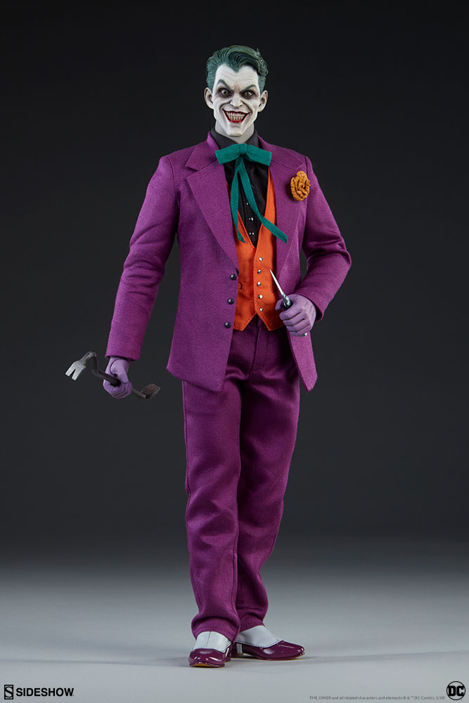 batman - NEW PRODUCT: SIDESHOW COLLECTIBLES: The Joker Sixth Scale Figure (Exclusive Laughing Head Sculpt) 1279