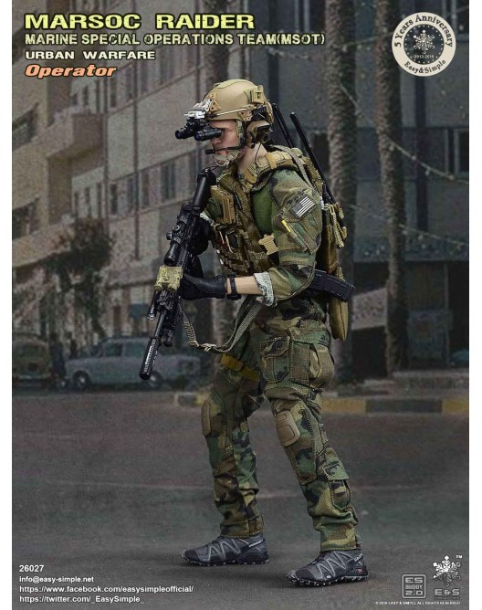 NEW PRODUCT: Easy & Simple 26027 1/6 Scale MARSOC Raider Urban Warfare Operator 13-52810