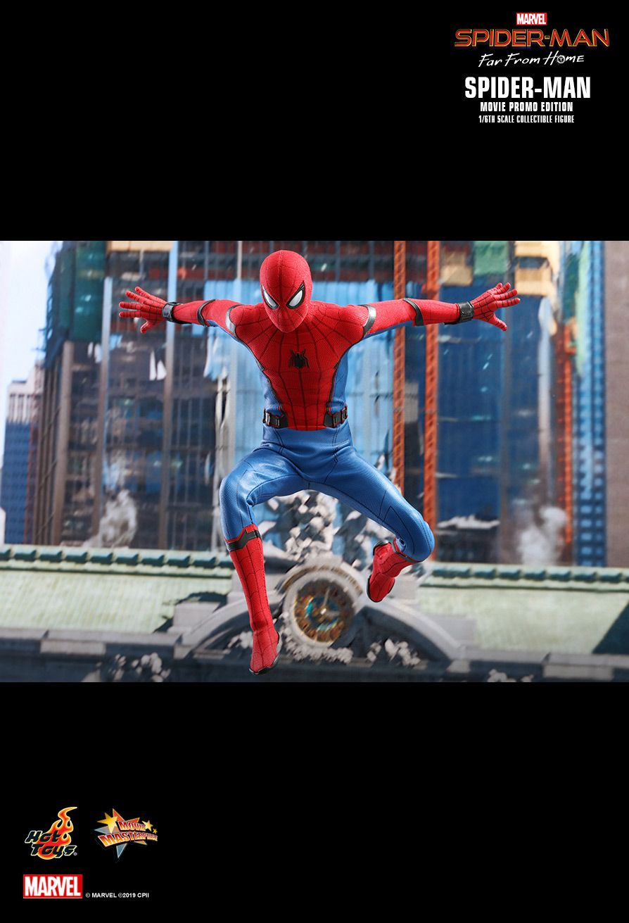 marvel - NEW PRODUCT: HOT TOYS: SPIDER-MAN: FAR FROM HOME SPIDER-MAN (MOVIE PROMO EDITION) 1/6TH SCALE COLLECTIBLE FIGURE 13137