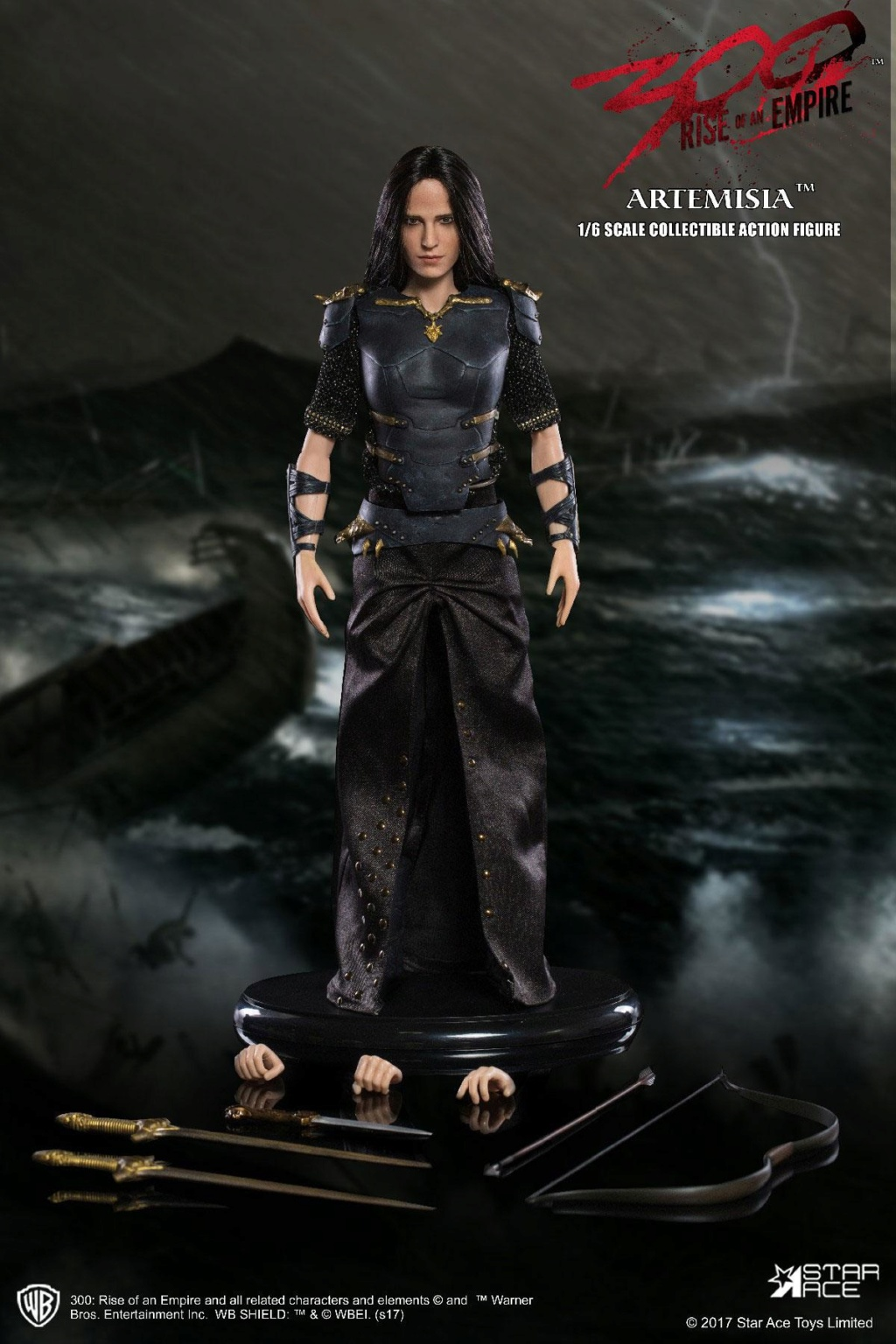 "NEW PRODUCT: Star Ace Toys: 1/6 ""300 Warriors: The Rise of the Empire"" - Female General Artemisia 2.0 (SA0045S) 13140110"