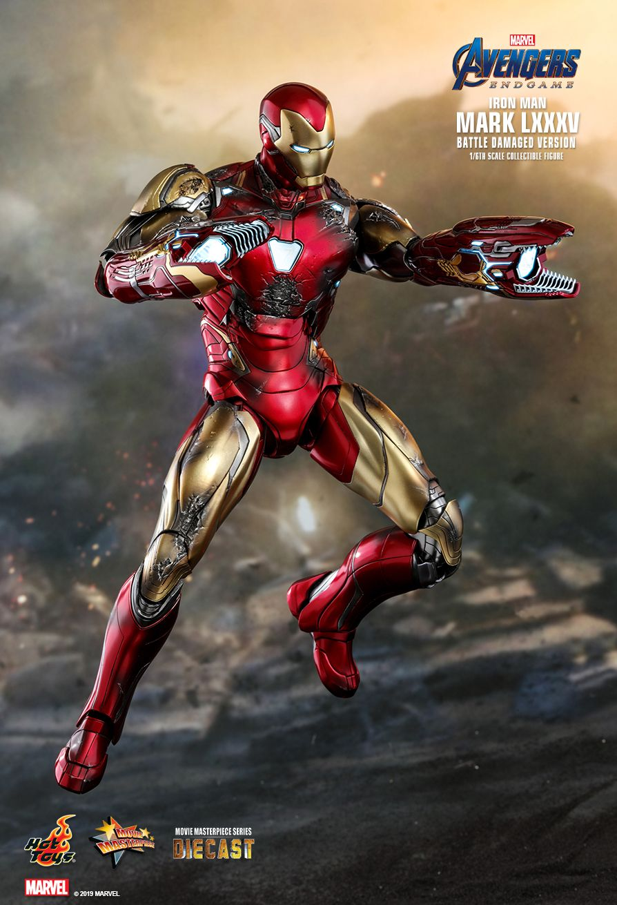 marvel - NEW PRODUCT: HOT TOYS: AVENGERS: ENDGAME IRON MAN MARK LXXXV (BATTLE DAMAGED VERSION) 1/6TH SCALE COLLECTIBLE FIGURE 13150