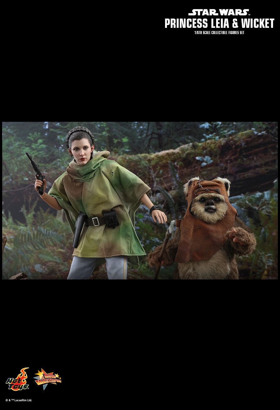 Endor Leia - NEW PRODUCT: HOT TOYS: STAR WARS: RETURN OF THE JEDI PRINCESS LEIA AND WICKET 1/6TH SCALE COLLECTIBLE FIGURES SET 13158