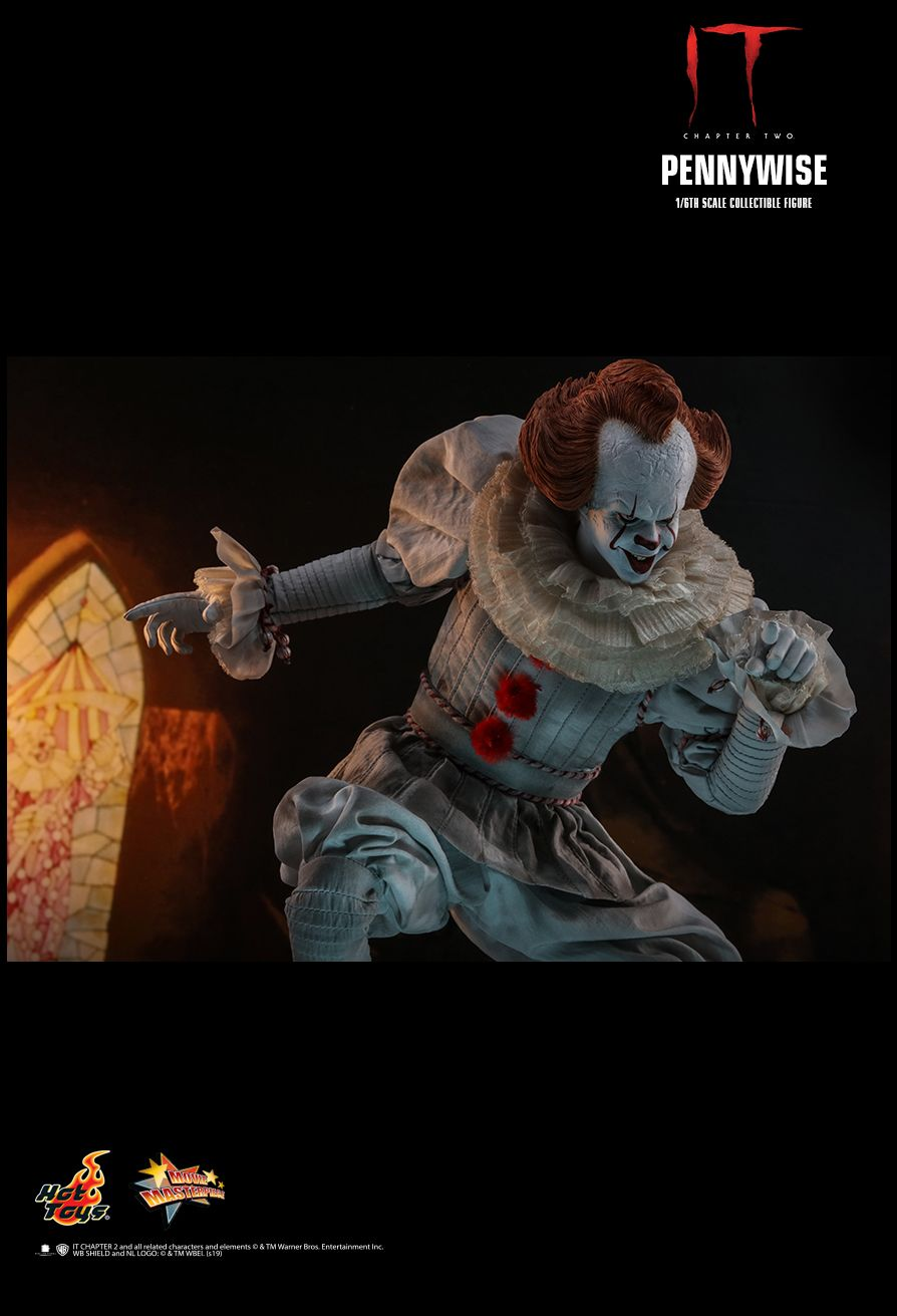 NEW PRODUCT: HOT TOYS: IT CHAPTER TWO PENNYWISE 1/6TH SCALE COLLECTIBLE FIGURE 13163