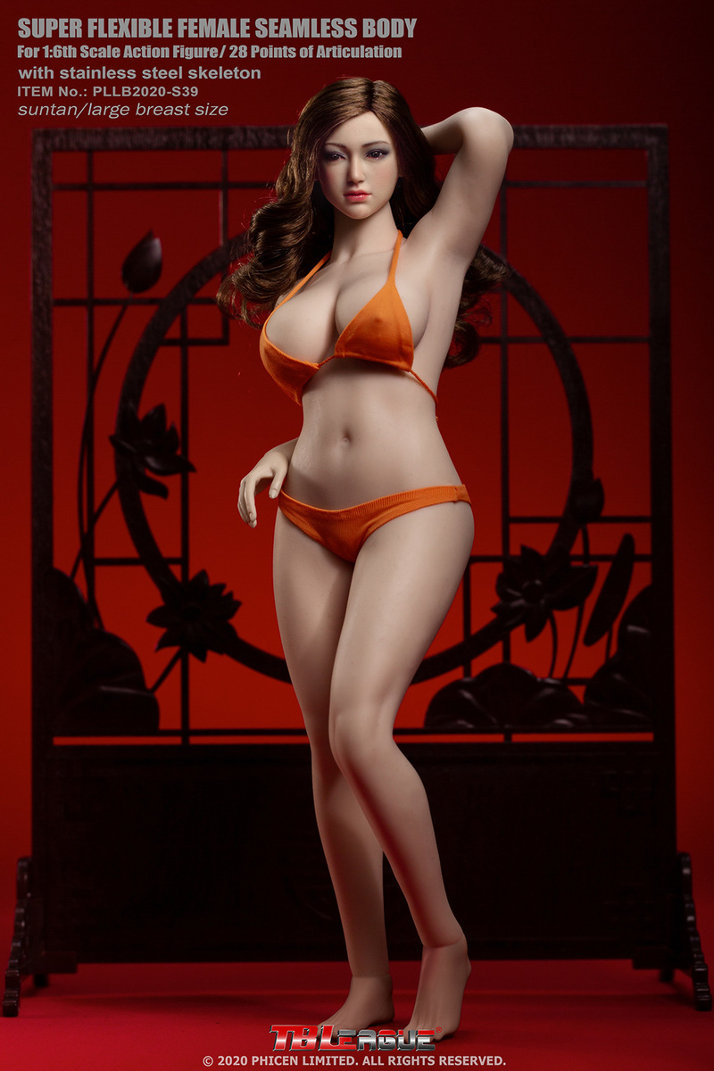 "body - NEW PRODUCT: TBLeague: 1/6 scale ""Chubby"" Female Body (2 styles, with or without a head sculpt) 13209"