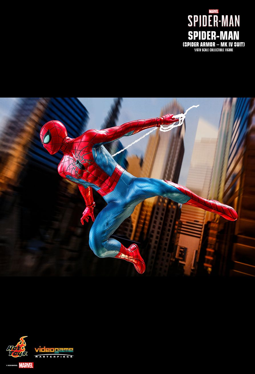 videogame - NEW PRODUCT: HOT TOYS: SPIDER-MAN (SPIDER ARMOR - MK IV SUIT) MARVEL'S SPIDER-MAN 1/6TH SCALE COLLECTIBLE FIGURE 13227