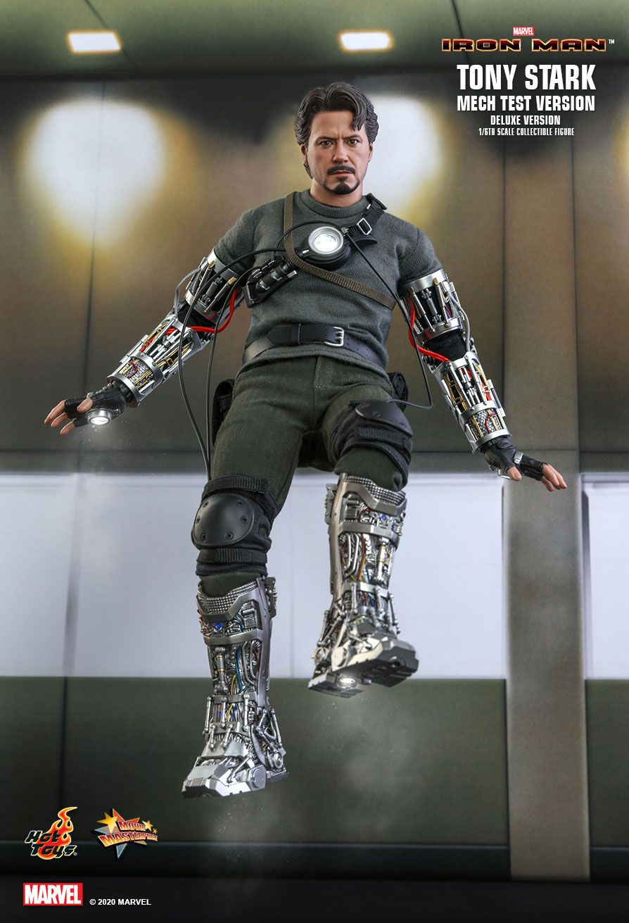 movie - NEW PRODUCT: HOT TOYS: IRON MAN TONY STARK (MECH TEST VERSION) (DELUXE VERSION) 1/6TH SCALE COLLECTIBLE FIGURE 13238
