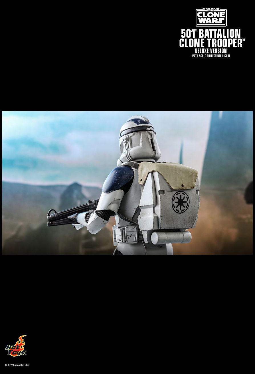 hottoys - NEW PRODUCT: HOT TOYS: STAR WARS: THE CLONE WARS™ 501ST BATTALION CLONE TROOPER™ (DELUXE VERSION) 1/6TH SCALE COLLECTIBLE FIGURE 13247