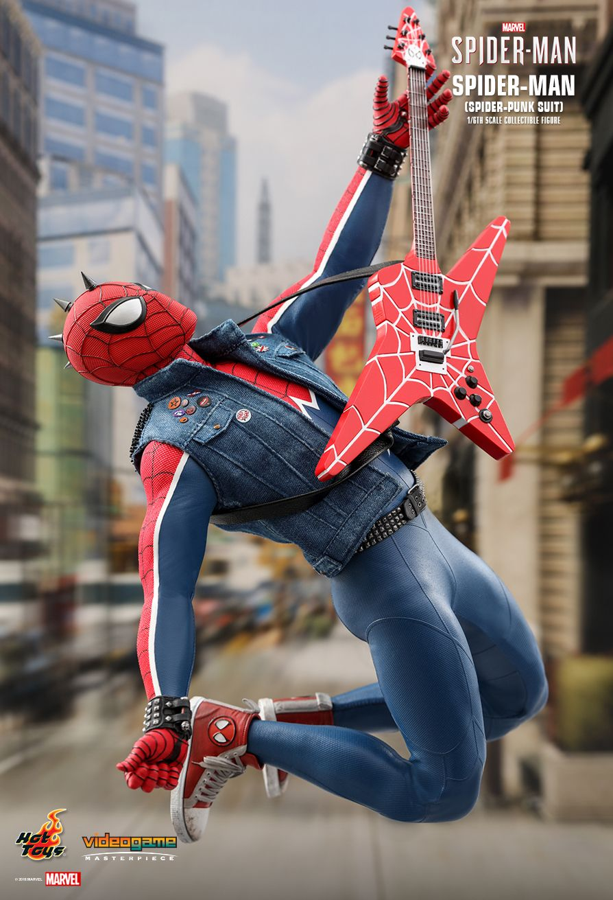 Spider-Punk - NEW PRODUCT: Hot Toys: MARVEL'S SPIDER-MAN SPIDER-MAN (SPIDER-PUNK SUIT) 1/6TH SCALE COLLECTIBLE FIGURE 1325