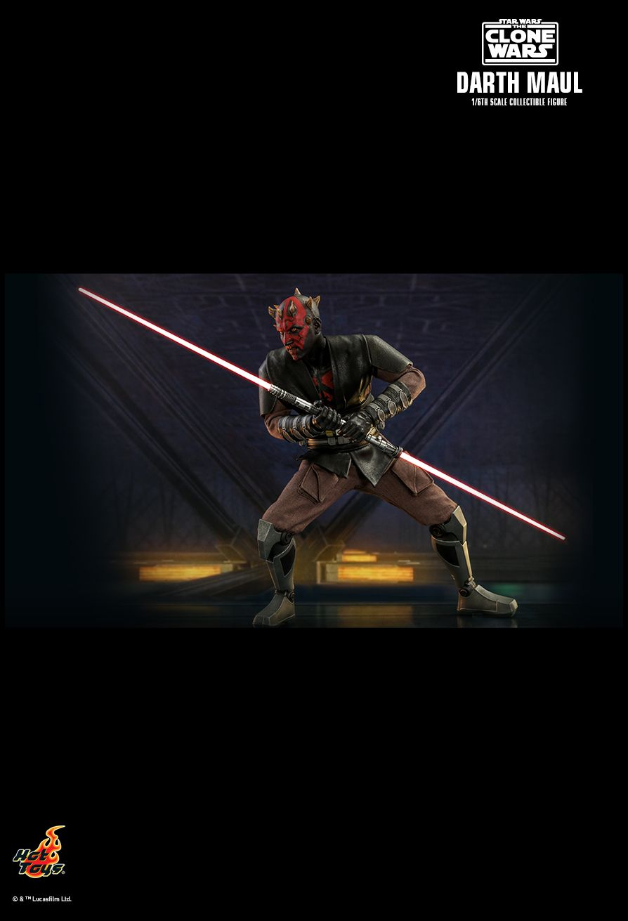 Sci-Fi - NEW PRODUCT: HOT TOYS: STAR WARS: THE CLONE WARS™ DARTH MAUL™ 1/6TH SCALE COLLECTIBLE FIGURE 13255