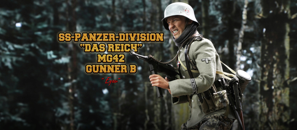 DiD - NEW PRODUCT: DiD 1/6 scale figure Egon - SS-Panzer-Division Das Reich MG42 Gunner B 1327