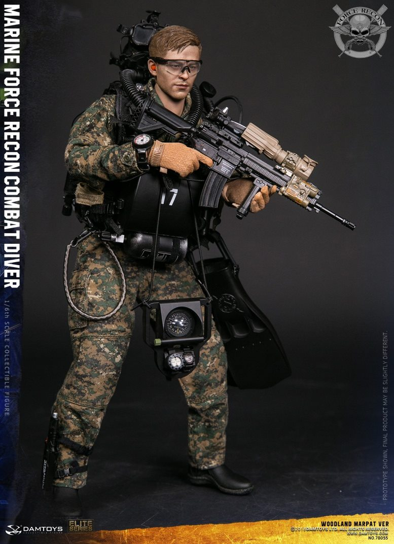 DamToys - NEW PRODUCT: DAM Toys: Marine Force Recon Combat Diver (Desert MARPAT) (GIDAM-78056) & (Woodland MARPAT) (GIDAM-78055) 1329