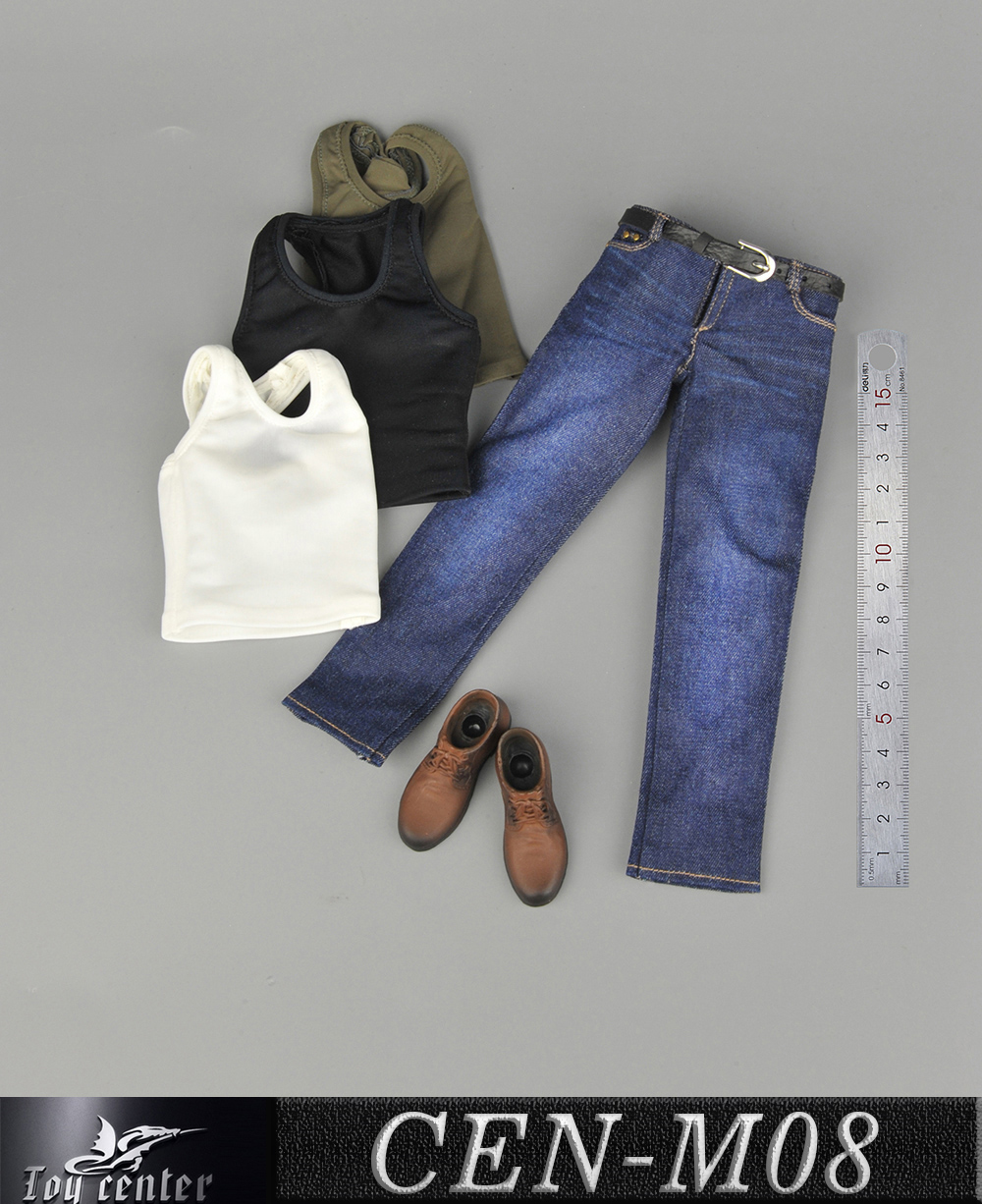 NEW PRODUCT: Toy Center: 1/6 Sports Vest Jeans Set - Three Colors A/B/C 13424310
