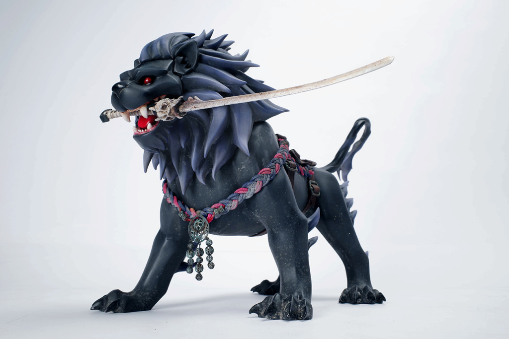japanese - NEW PRODUCT: AX2 STUDIO: 1/6 INU & SARU dog and cub series - Jianwu (juvenile) & lion pill 13484210
