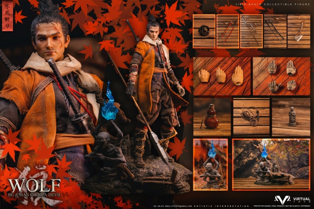 steampunk - NEW PRODUCT: VTS TOYS: 1/6 The wolf of Ashina Anonymous Wolf - Standard & Deluxe Edition VM-030DX 13493810