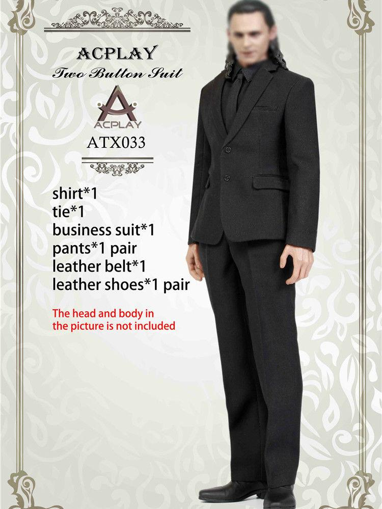 NEW PRODUCT: ACPLAY ATX033 1/6 Scale Men's Black Business Suit Set 135