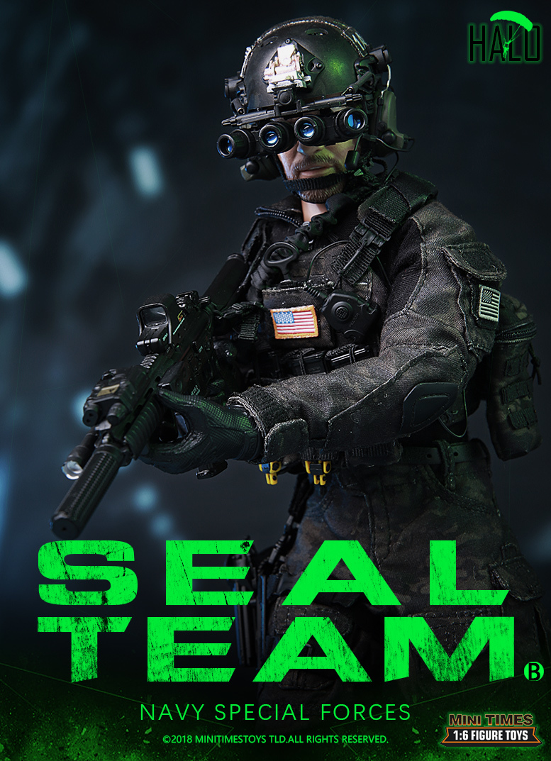 "Dog - NEW PRODUCT: MINI TIMES TOYS US NAVY SEAL TEAM SPECIAL FORCES ""HALO"" 1/6 SCALE ACTION FIGURE MT-M013 1354"