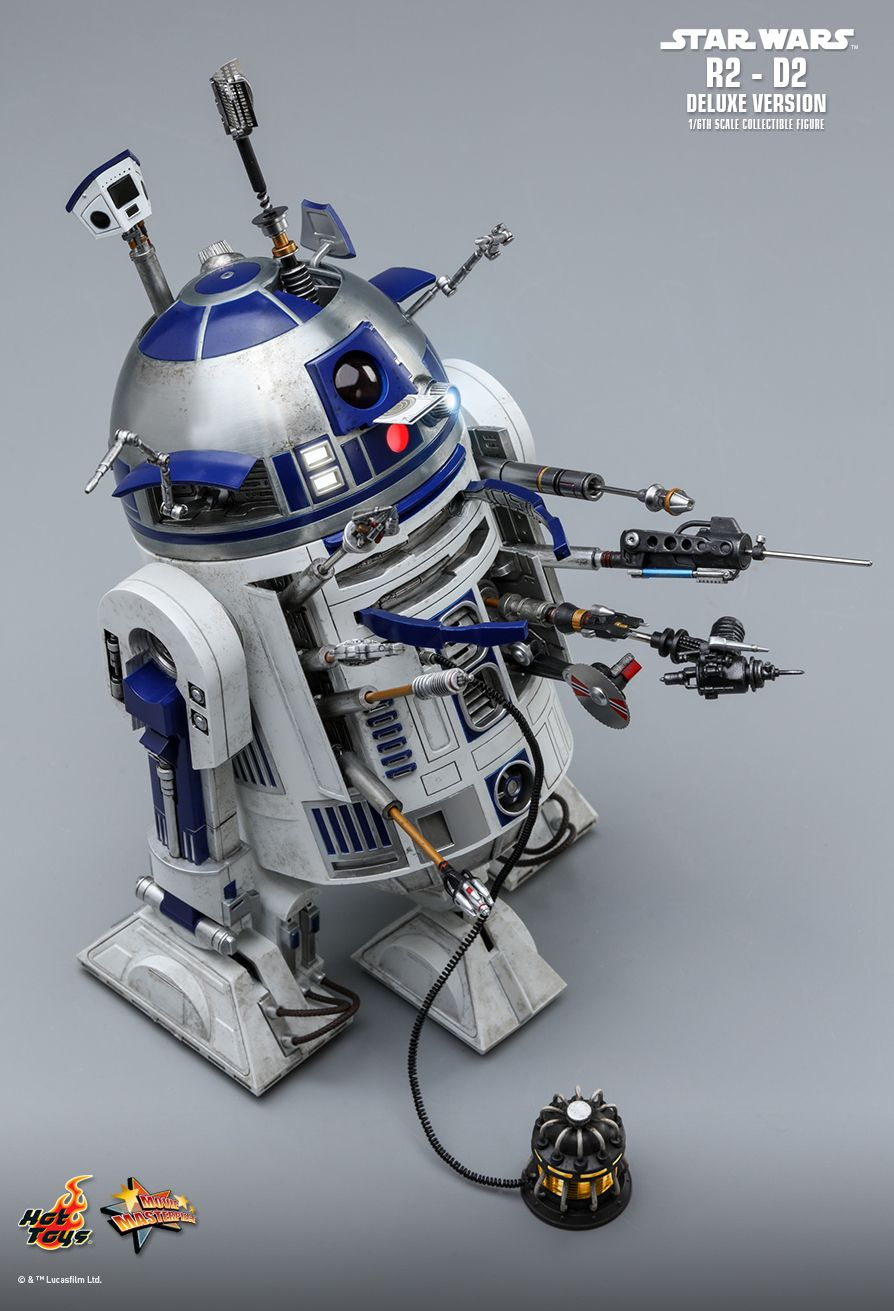 NEW PRODUCT: HOT TOYS: STAR WARS R2-D2 DELUXE VERSION 1/6TH SCALE COLLECTIBLE FIGURE 1355