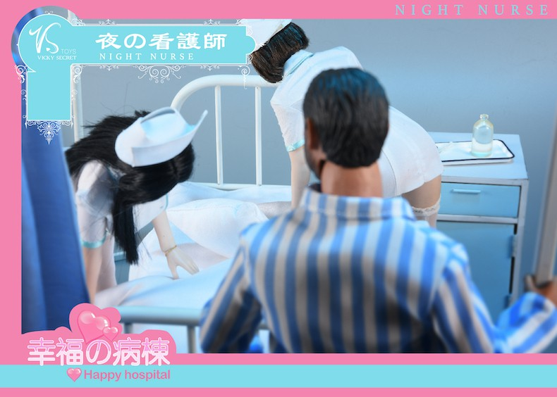 Diorama - NEW PRODUCT: VSToys: 1/6 happy hospital bed nurse scene suit hospital scene soldier doll  13570010