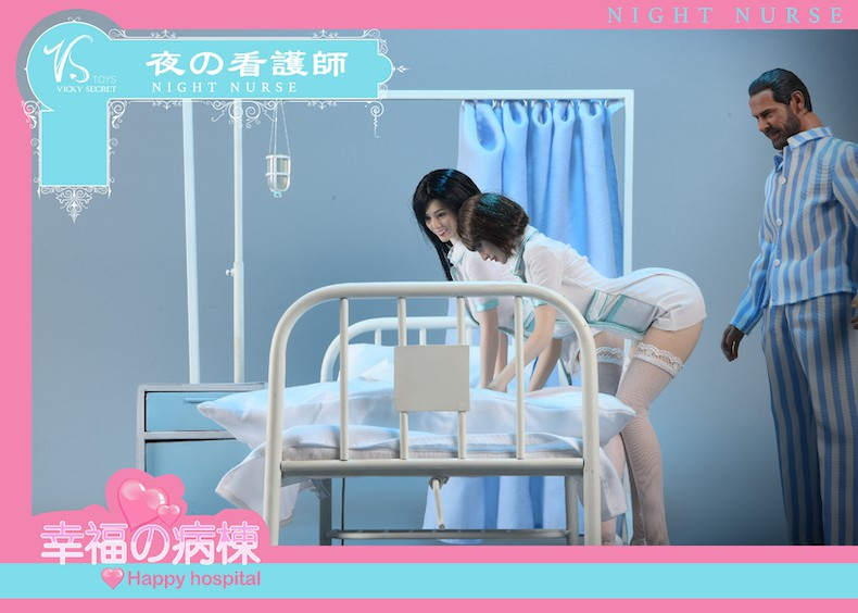 Diorama - NEW PRODUCT: VSToys: 1/6 happy hospital bed nurse scene suit hospital scene soldier doll  13570211