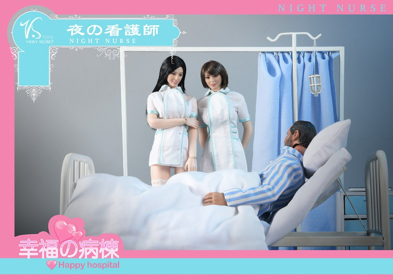 Diorama - NEW PRODUCT: VSToys: 1/6 happy hospital bed nurse scene suit hospital scene soldier doll  13570410