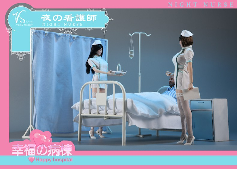 Diorama - NEW PRODUCT: VSToys: 1/6 happy hospital bed nurse scene suit hospital scene soldier doll  13570510