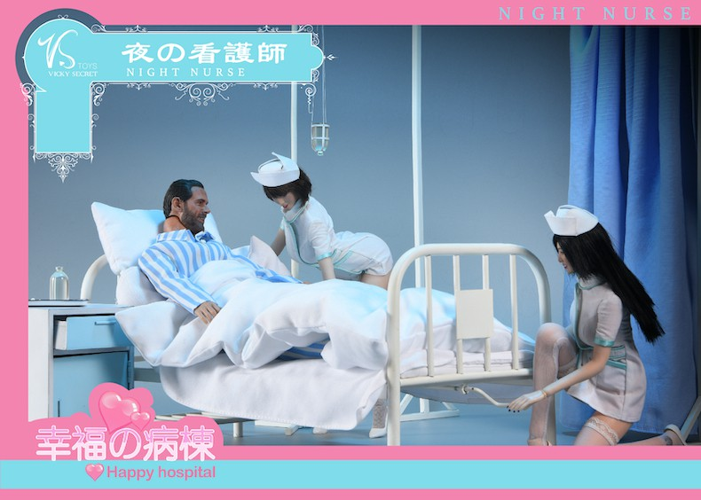Diorama - NEW PRODUCT: VSToys: 1/6 happy hospital bed nurse scene suit hospital scene soldier doll  13570511
