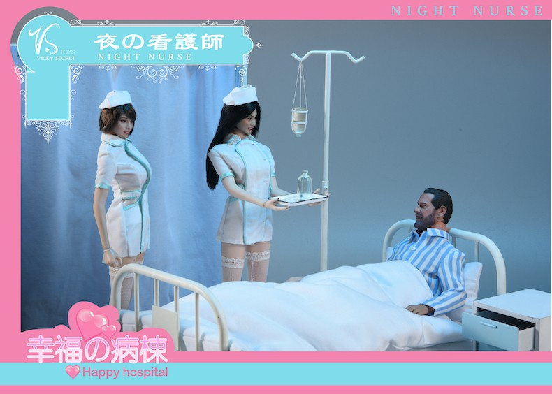 Diorama - NEW PRODUCT: VSToys: 1/6 happy hospital bed nurse scene suit hospital scene soldier doll  13570512