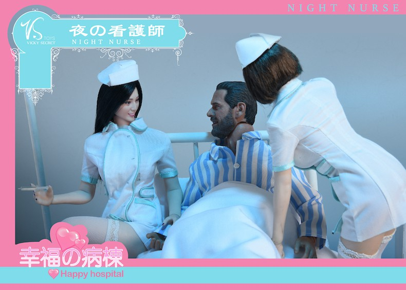 Diorama - NEW PRODUCT: VSToys: 1/6 happy hospital bed nurse scene suit hospital scene soldier doll  13570610