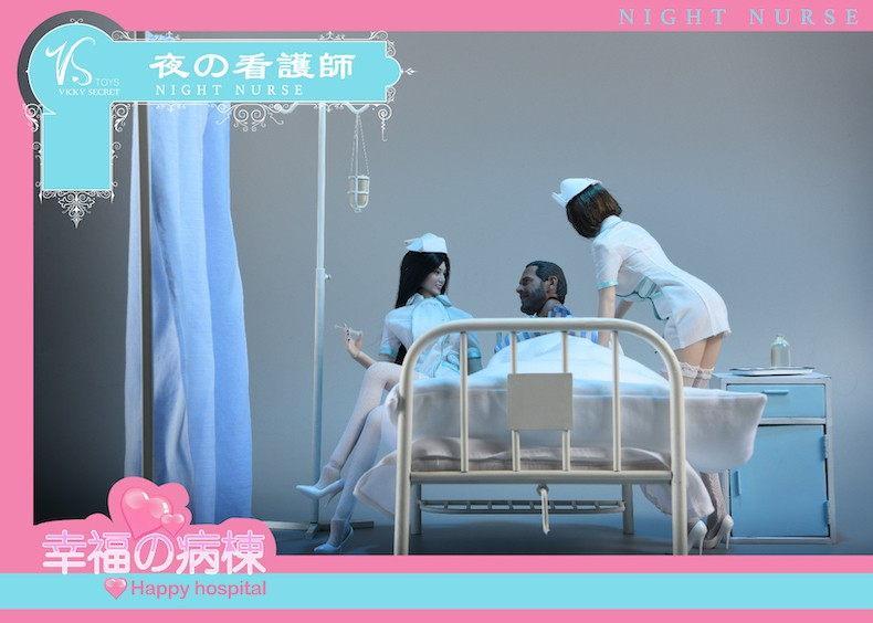 Diorama - NEW PRODUCT: VSToys: 1/6 happy hospital bed nurse scene suit hospital scene soldier doll  13570611