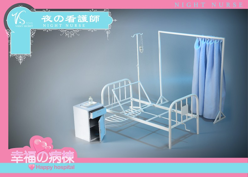 Diorama - NEW PRODUCT: VSToys: 1/6 happy hospital bed nurse scene suit hospital scene soldier doll  13570711