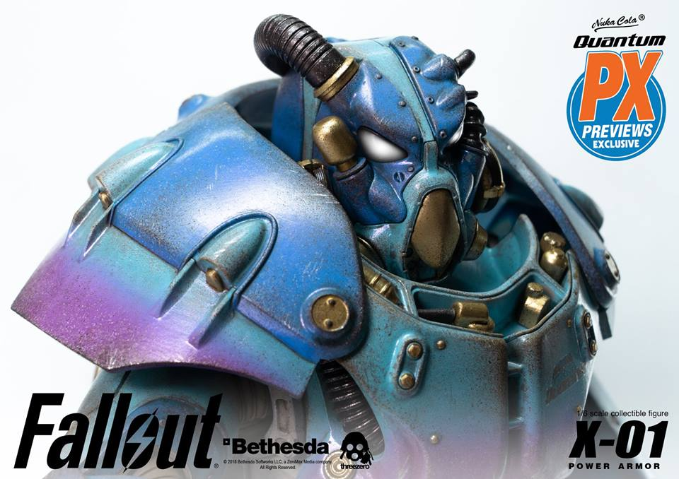 "Fallout - NEW PRODUCT: Three Zero Exclusive 1/6th scale X-01 ""Quantum"" Power Armor 14.5-inch Figure Set 1377"
