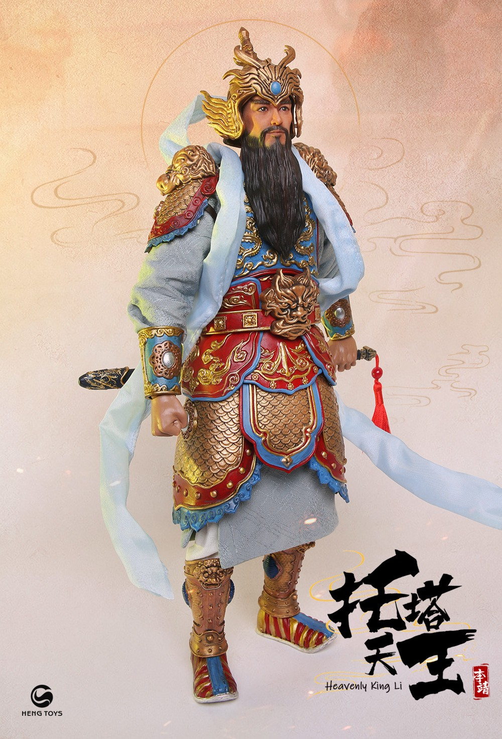 NEW PRODUCT: HENG TOYS: 1/6 Chinese Mythology Taoist Protector God Heavenly King Li, Li Tianwang action figure (PE-005) 14032510