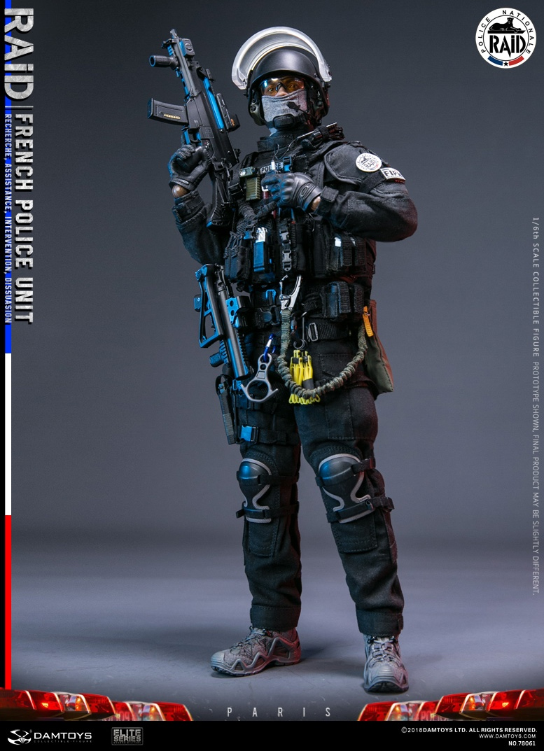 "DamToys - NEW PRODUCT: [DAM] DAMTOYS New: 1/6 French Special Police ""Black Panther / RAID"" Anti-Terrorism Commando - Paris (78061#) 14111510"