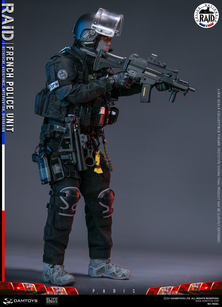 "DamToys - NEW PRODUCT: [DAM] DAMTOYS New: 1/6 French Special Police ""Black Panther / RAID"" Anti-Terrorism Commando - Paris (78061#) 14111910"