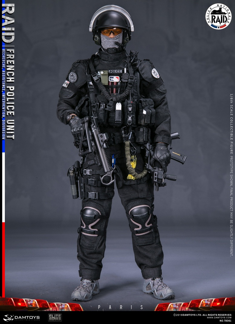 "DamToys - NEW PRODUCT: [DAM] DAMTOYS New: 1/6 French Special Police ""Black Panther / RAID"" Anti-Terrorism Commando - Paris (78061#) 14112111"